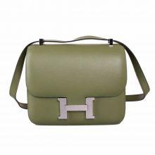Hermès(爱马仕)橄榄绿 原厂御用顶级Epsom 皮 Constance 19