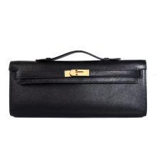 Hermès(爱马仕)Kelly Cut 31CM 金扣 黑色 Swift