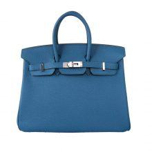 Hermès(爱马仕)Birkin铂金包 伊兹密尔蓝 togo 银扣 30cm