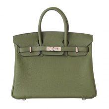 Hermès(爱马仕)Birkin铂金包 丛林绿 togo 银扣 30cm