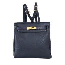 Hermès(爱马仕)Kellyado 双肩包黑色togo 金扣 22CM