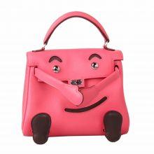 Hermès(爱马仕)Kellydoll娃娃包唇膏粉拼咖啡 18cm