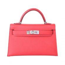 Hermès(爱马仕)mini Kelly 迷你凯莉 番茄红 银扣 原厂Epsom皮 二代