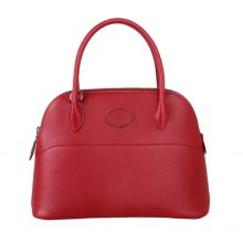 Hermès(爱马仕)bolid保龄球 石榴红 原厂御用Swift皮 28cm
