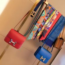 Hermès(爱马仕)Constance空姐包 中国红 原厂御用swift皮 金扣 19cm