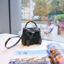 Hermès(爱马仕)Kellydoll 娃娃包 黑色 原厂御用swift皮 银扣 18cm