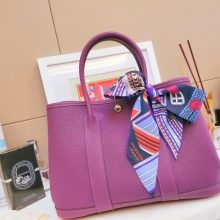 Hermès(爱马仕)Garden Party 花园包 9W薰衣草紫 Negonda 银扣 30cm