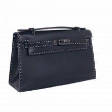 Hermès(爱马仕)miniKelly 一代 黑色 BOX皮