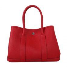 Hermès(爱马仕)Garden 花园包 中国红 togo 银扣 30cm