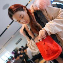 Hermès(爱马仕)evelyne 伊芙琳 中国红 togo 银扣 17cm