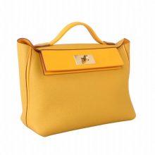 Hermès(爱马仕)Kelly 2424 9D琥珀黄 Togo 银扣 29cm
