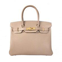 Hermès(爱马仕)Birkin 铂金包 斑鸠灰 togo 金扣 30cm
