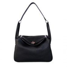Hermès(爱马仕)Lindy 30 银扣 CK89黑色 togo
