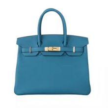 Hermès(爱马仕)Birkin W0博斯普鲁斯绿 togo 金扣 30cm