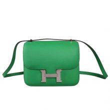 Hermès(爱马仕)Constance 空姐 竹子绿 epsom皮 金扣 19cm
