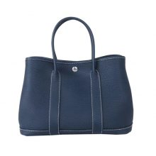Hermès(爱马仕)Garden 花园包 30 银扣 1P鸭子蓝 togo