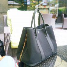 Hermès(爱马仕)garden party 花园包 36CM 黑色帆布