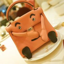 Hermès(爱马仕)kelly doll 娃娃包 奶昔粉 swift皮