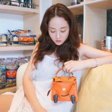 Hermès(爱马仕)kelly doll 娃娃包 橙色 swift皮