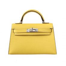 Hermès(爱马仕)miniKelly 迷你凯莉 2代  9O那不勒斯黄  Epsom皮 银扣 20cm