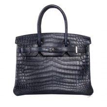 Hermès(爱马仕)Birkin 铂金包 海蓝 雾面鳄鱼 银扣 30cm