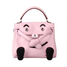 Hermès(爱马仕)kelly doll 娃娃包 3Q水粉色 swift皮 银扣 18cm