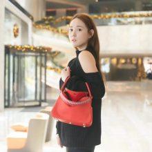 Hermès(爱马仕)lindy 红色 swift 编织肩带 银扣 26cm