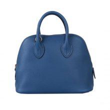 Hermès(爱马仕)Bolide 保龄球包 深邃蓝 EV 金扣 18cm