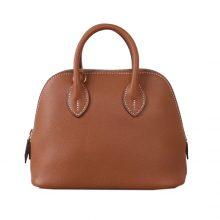 Hermès(爱马仕)Bolide 保龄球包 金棕色 EV 金扣 18cm