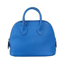 Hermès(爱马仕)Mini bolide 保龄球包 水妖蓝 EV 银扣 18cm