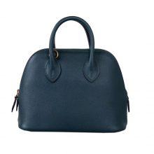 Hermès(爱马仕)Mini bolide 保龄球包 松柏绿 EV 金扣 18cm