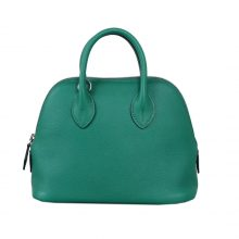 Hermès(爱马仕)Mini bolide 保龄球包 维罗纳绿 EV 银扣 18cm