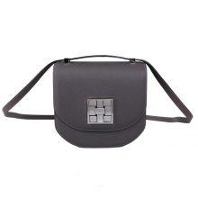 Hermès(爱马仕)马赛克 挎包 锡器灰 EP皮 银扣 17cm