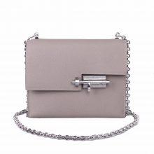 Hermès(爱马仕)Verrou 锁链包 沥青灰 EP皮 银扣 17cm