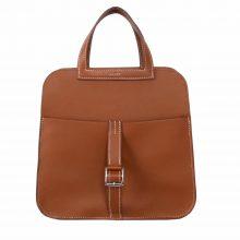 Hermès(爱马仕)halzan 31cm 金棕色 Swift皮