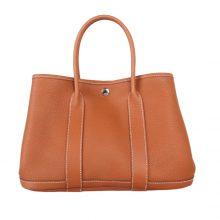 Hermès(爱马仕)Garden 花园包 金棕色  togo 银扣 30cm