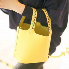 Hermès(爱马仕)Picotin 菜篮包 9O那不勒斯黄 编织手柄 epsom皮 银扣 18cm