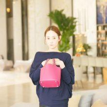 Hermès(爱马仕)Picotin 菜篮包 玫瑰紫 编织手柄 epsom皮 银扣 18cm