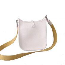 Hermès(爱马仕)mini evelyne 伊芙琳 纯白色 Togo 银扣 17cm