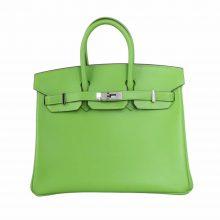 Hermès(爱马仕)Birkin 铂金包 奇异果绿 swift皮 银扣 25cm