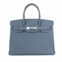 Hermès(爱马仕)Birkin 铂金包 杏仁绿 Togo 银扣 30cm