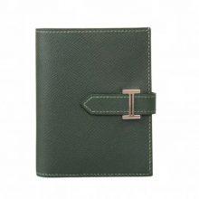 Hermès(爱马仕)Bearn 小H扣 短夹 英国绿 银扣 epsom皮