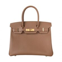 Hermès(爱马仕)birkin 铂金包 栗子棕 金扣 Epsom皮 30cm