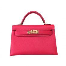 Hermès(爱马仕)mini Kelly二代 银扣 极致粉 Epsom