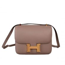 Hermès(爱马仕)Constace 空姐包 大象灰 EP 金扣 19cm
