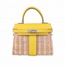 Hermès(爱马仕)Kelly picnic mini  野餐包  22cm 柠檬黄