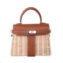 Hermès(爱马仕)Kelly picnic mini  野餐包  22cm 金棕色