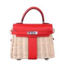 Hermès(爱马仕)Kelly picnic mini  野餐包  22cm 国旗红