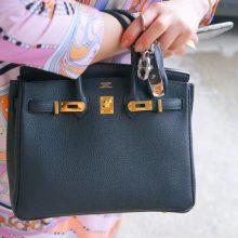 Hermès(爱马仕)Birkin 25cm 金扣 黑色  togo