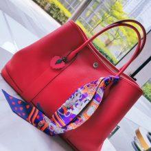 Hermès(爱马仕)garden party花园包 中国红  Togo